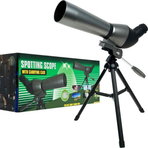 New Trademark 20X - 60X Zoom Spotting Scope W 360° Rotation Adjustable Tripod