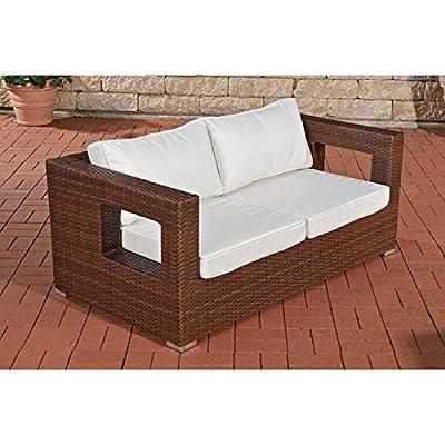 2er Sofa Honolulu, braun-meliert von CLP - Gartenmöbel von Du und Dein Garten