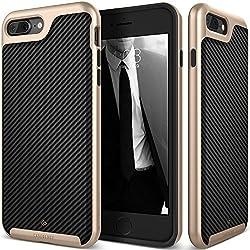 iPhone 7 Plus Case, Caseology [Envoy Series] Classic Rich Texture PU Leather [Carbon Fiber Black] [Luxury Slim] for iPhone 7 Plus (2016)