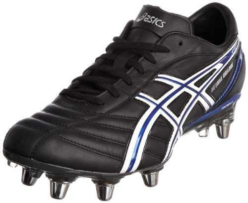 ASICS Men's Lethal Charge Black/White/Blue Rugby Boot P029L 9001 11 UK