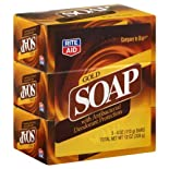 Rite Aid Soap, Gold, with Antibacterial Deodorant Protection, 3 ea