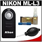Nikon ML-L3 Wireless Infrared Shutter Remote Control + Nikon Cleaning Kit for D610, D7000, D7100, D5100, D5200, D5300, D3200, D3300 Digital Cameras