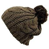 Luxury Divas Twisted Cable Knit Winter Beanie Cap Hat