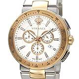 VERSACE ヴェルサーチ メンズ 腕時計 VFG130015 ミスティック スポーツ クロノグラフ ホワイト×ローズゴールド [並行輸入品]