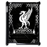 England Premier League Liverpool FC Logo Water Proof iPad 2/3/4 Black Plastic Case