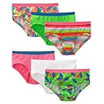 Fruit of the Loom Girls' 6 Pack Wardrobe Low Rise Brief