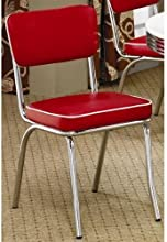 Coaster Home Furnishings Contemporary Dining Chair Red Set of 2