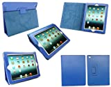 Emartbuy New Ipad 3 & Apple Ipad 2 Textured PU Leather Multifunctional / Multi Angle Wallet / Cover / Stand / Typing Case With Magnetic Sleep Wake Sensor Blue (All versions Wi-Fi and Wi-Fi + 3G/4G - 16GB 32GB 64GB)