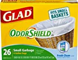 Glad Garbage Bags, Odor Shield, Small, 26-Count Boxes (Pack of 12)