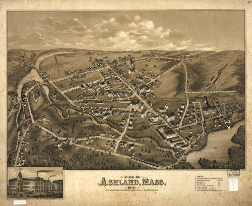 1878 Map of Ashland, Massachusetts