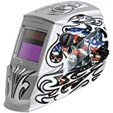Antra AH6-260-101S Solar Power Auto Darkening Welding Helmet with AntFi X60-2 Wide Shade Range 4/5-9/9-13 with Grinding Feature Extra lens covers Good for Arc Tig Mig Plasma CSA/ANSI Certified By Colts Lab