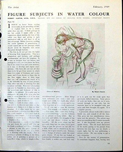old-original-antique-victorian-print-female-figure-heater-robert-austin-semi-clag-lady-dressing-1949