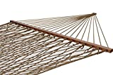 Polyester Rope Hammock with Pillow (Brown)