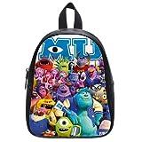 Generic Custom Cute Disney Monsters University Roles Printed Black School Bag Backpack Fit Short Trip PU Leather Large