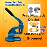 DSM Compact Hand Press Heavy Duty Grommet Machine Hole Punch Tool 500/1000 Grommets Changable Die 3 4 or 5 (#5... at Sears.com