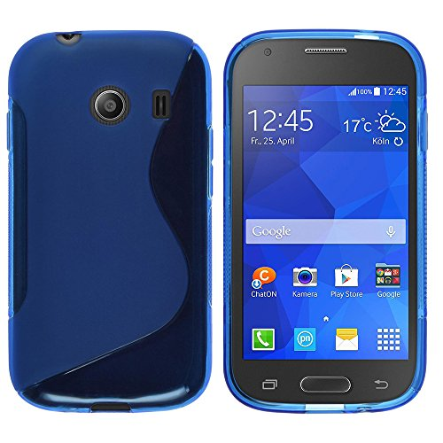 Yakamoz Slim Fit TPU S-line Silicone Gel Case Cover for Samsung Galaxy Ace Style G310 with Free HD Screen Protector & Stylus Pen (S-line Blue) (Galaxy Ace Style Silicone Case compare prices)