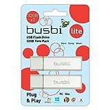 Busbi 32GB Lite R2 USB 2.0 Flash drive Value Twin Pack - Silver