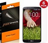 SUPERSHIELDZ- High Definition (HD) Clear Screen Protector For LG G2 + Lifetime Replacements Warranty [6-PACK] - Retail Packaging