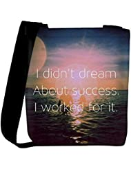Snoogg I Worked For Success Womens Carry Around Cross Body Tote Handbag Sling Bags