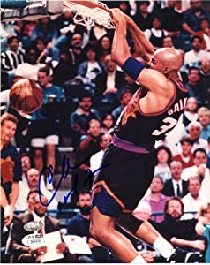 Charles Barkley Autographed Phoenix Suns Photo - 8x10 - SM - JSA Certified by Sports Memorabilia