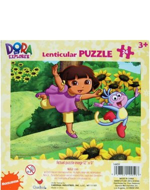 Cheap Nick Dora the Explorer Lenticular 3D Puzzle, 24-Piece – Dora, Boots and Sunflowers (B003C1AO5K)