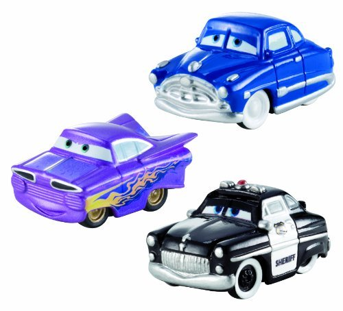 Cars Micro Drifters Doc Hudson, Sheriff And Ramone Toy Vehicle, 3-Pack Toy, Kids, Play, Children front-766486