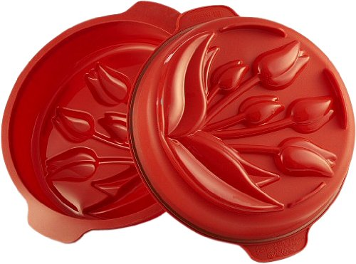 Silikomart Silicone Fancy and Function Bakeware Collection Cake Pan, Tulip