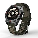 Teckey Luxus N10 Smart Watch Outdoor-Sport Smartwatch mit Pulsmesser und Kompass-wasserdichte Uhr für iPhone und Android