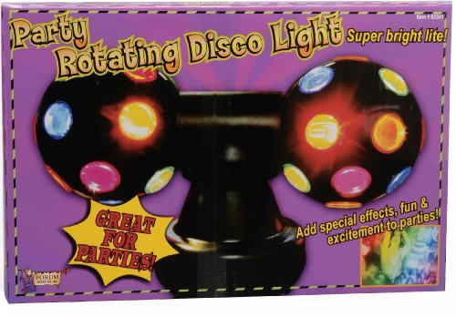 Forum Novelties Twin Rotating Multi Color Disco Ball Party Lights front-505097