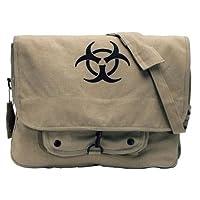 Rothco Vintage Canvas Bio-Hazard Messenger (Stoashed Khaki) from Rothco