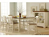 Hot Sale Ohana 5 Piece Counter Height Table Set by Homelegance in 2 Tone Antique White & Warm Cherry