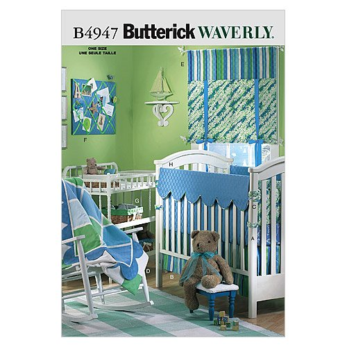 Lowest Prices! Butterick Patterns B4947 Infants' Room, One Size Only