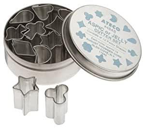 Ateco 12 Piece Aspic/Jelly Cutter Set, .5 Inch
