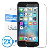 [2Pack] iPhone 6S Screen Protector, Maxboost® [Tempered Glass 3D Touch Compatible] 0.2mm iPhone 6S Glass Screen Protector Work with iPhone 6 / iPhone 6S / Most Protective Case [Lifetime Warranty]