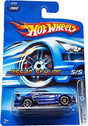 2006 Hot Wheels Dropstars Nissan Skyline Blue #060