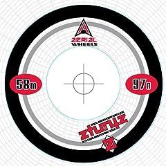 Buy Aerial Wheels LOGO Racer Park Skateboard Wheels (Set of 4) for Street, Vert and Pool Deck, 58mm 97 Durometer, White... by Aerial Wheels