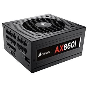 Corsair CP-9020037-UK Professional Series AX860i ATX/EPS Fully Modular 80 PLUS Platinum Digital Power Supply Unit, 860 W