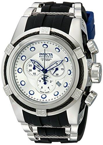 invicta-mens-14072-bolt-reserve-chronograph-silver-dial-black-polyurethane-watch