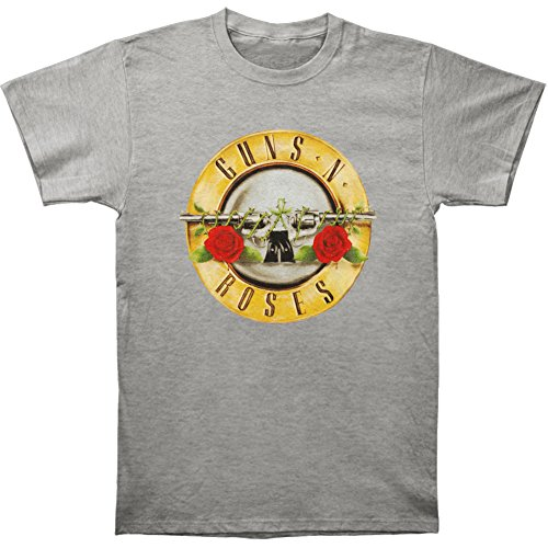 Licensed Guns N Roses Classic Bullet Logo Gray T-shirt - S to XXL