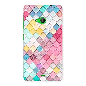 Special Rock Pattern Multicolor Back Case Cover for Lumia 535