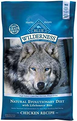 Blue Buffalo Wilderness Grain Free Dry Dog Food, Duck Recipe, 24-Pound Bag