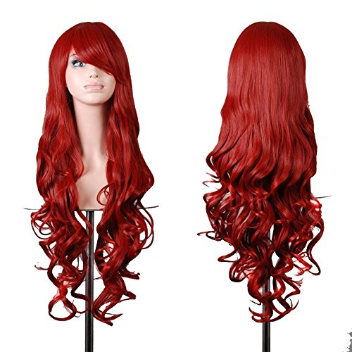 "32"" 80cm Long Hair Heat Resistant Spiral Curly Cosplay Toys Wig"