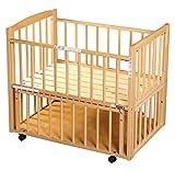 サワベビー L型プチベリー ナチュラル No.6 ミニベビーベッド 添い寝ベッド 0歳 床板に国産ひのきを使用 日本製 ランキングお取り寄せ