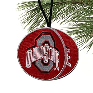 NCAA Ohio State Buckeyes 3 Sided 3D Embroidered Ornament
