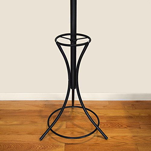 GrayBunny GB-6808 Metal Coat Rack, Hat Stand, Umbrella Holder, Hall Tree, Black, For Home or Office 5