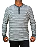 Converse by John Varvatos Men`s Long Sleeve Striped Henley Shirt (XL)