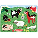 Melissa & Doug Farm Animals Peg Puzzle