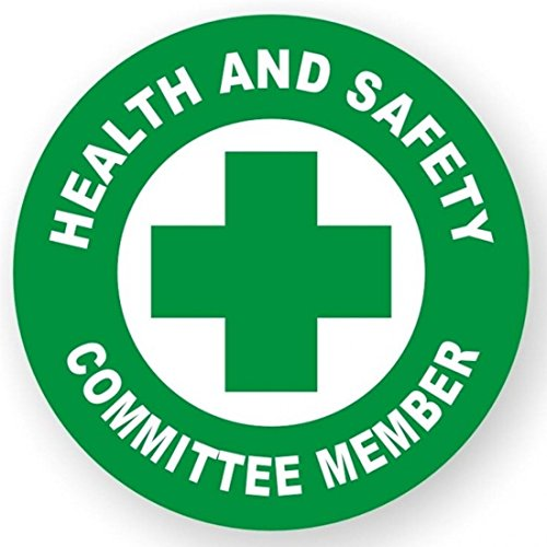 1 Pc Cool Popular Health And Safety Committee Member Vinyl Sticker Health Helmet Hard Hat Decals Forklift Pallet Size 2