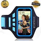 New Danforce Sports Armband - Perfectly Fit for iPhone 6, Samsung Galaxy S5/S6/S6 Edge - Great for Running, Cycling, Workouts or any Fitness Activity - Fully Adjustable - Sweat Proof - Lightweight & Comfortable - Build in Key + ID + Credit Cards & Money Holder