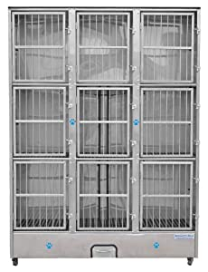 Groomer's Best 9-Unit Cage Bank
